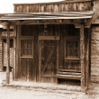 Stock Photo: Wild west - old sheriff house