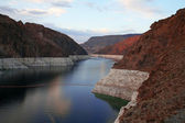 Lake Mead behind Hoover Dam, Nevada, USA — Stock Photo