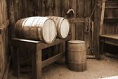 Vintage USA barrels — Stock Photo