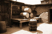 Vintage USA barrels — Stockfoto