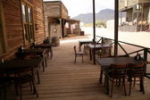Old cafe in wild west — Stock Photo