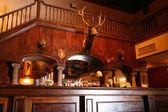 Stylish night bar with retro decor — Stock Photo