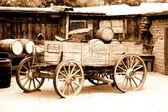 Antique american cart — Stock Photo