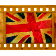 Grunge textured film UK flag - Stock Photo