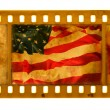 Grunge textured film USA flag - Stock Photo