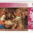 Chrismas stamp — Stock Photo