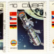 Stock Photo: Stamps of Cuba with the space theme