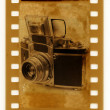 Stock Photo: 35mm retro photo camerExacta