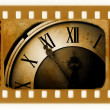 Royalty-Free Stock Photo: Old photo with vintage clock