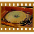 Oldies photo with vintage gramophone - Stok fotoğraf