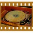 Foto de Stock  : Oldies photo with vintage gramophone