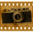 Oldies 35mm with retro photo camera — Stock Photo