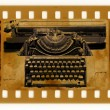 Oldies photo with vintage typewriter — Photo
