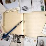 Vintage paper postcards, letters — Stock Photo