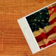 Old Photo vs USA flag — Stock Photo #1331937
