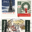 Stamps USA with christmas — Stock Photo