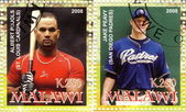 Stamps 2008- Best baseball players — Stock Photo