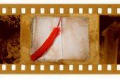 Pluma de 35mm marco foto vs vintage — Foto de Stock