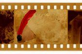 Pluma 35mm foto tintero vintage vs — Foto de Stock