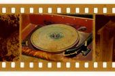 Oldies foto met vintage grammofoon — Stockfoto