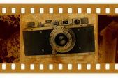 Oldies 35mm con cámara de fotos retro — Foto de Stock