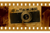 Oldies 35mm with retro photo camera — Foto de Stock