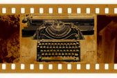 Photo d'oldies avec machine à écrire vintage — Photo
