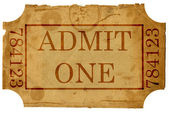 Ticket admit one — Stockfoto