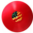 Stock Photo: Vinyl vintage USA flag