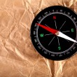Royalty-Free Stock Photo: Compass on old paper