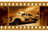 Oldies 35mm cadre photo avec une vieille voiture — Photo