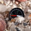 Vintage compass in the sand — Stock Photo #1631035