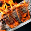 Stock Photo: Burn keyboard