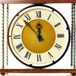 Stock Photo: Antique clock face