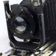 retro camera geïsoleerd op wit — Stockfoto