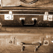 Old brown suitcase for travel — Stock Photo