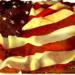 Vintage flapping USA flag with wave — Stock Photo #1638007