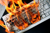 Burn keyboard — Stock Photo