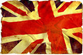 Vintage flag UK — Stock Photo