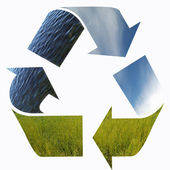Three arrows nature elements recycling — Stock Photo