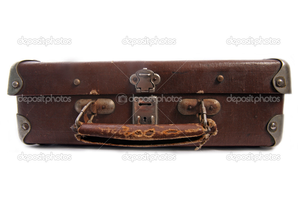 Old brown suitcase for travel — Stock Photo #1633488