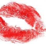 labios rojos aislados en blanco — Foto de Stock   #1644542