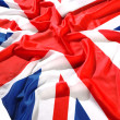 Flapping flag UK with wave — Stock Photo #1647801