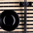 Stock Photo: Classical asian chopsticks and bowl