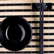Classical asian chopsticks and bowl — Stock Photo #1954737