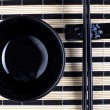 Classical asian chopsticks and bowl — Stock Photo
