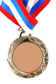 Blank gold medal — Stock Photo