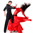 Dancers isolated on white — Stock Photo