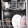 Dishwasher with clear dishes — Stock Photo
