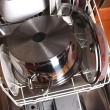 Dishwasher with dishes — Stock Photo